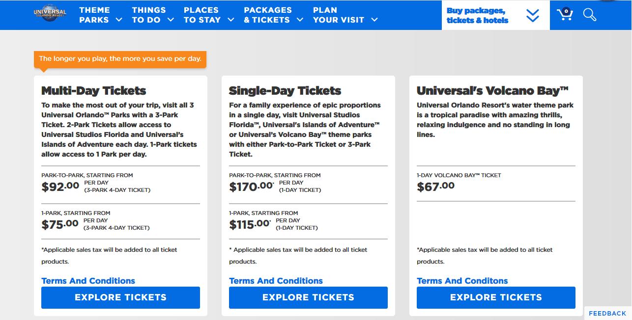 Universal Orlando Resortチケット解説画像01